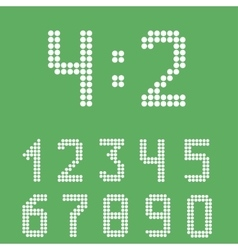 Scoreboard number set vector image