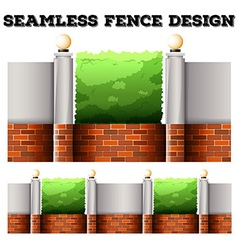 Seamless fence desing with lamps vector