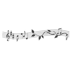 Abstract banner music notes vector image
