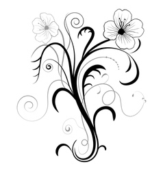 Abstract floral for design vector image vector image