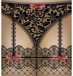 black lace lingerie vector image vector image