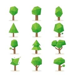 Polygonal trees vector image