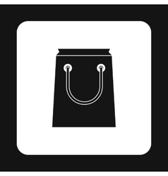 Shopping bag icon simple style vector image vector image