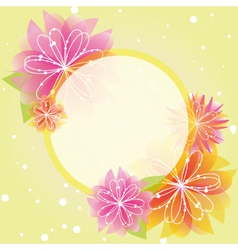 springtime colorful flowers vector image