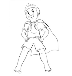 Superhero Kid vector image vector image