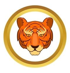 Tiger head icon vector image