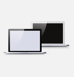 black and white notebook vector image
