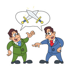 two businessmen arguing vector image