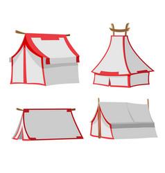 white tent isolate design set vector image