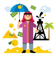 arab petroleum industry saudi oil wealth vector image vector image
