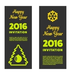 New year invitation 2016 vector image