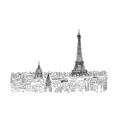 Pariscityscape with Eifel Tower Sketch for your vector image