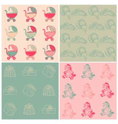 Seamless Baby Backgrounds vector image vector image