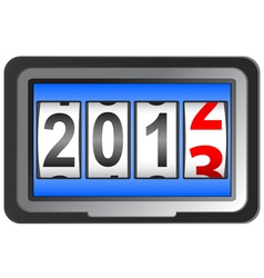 2013 New Year counter vector image