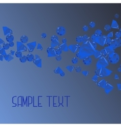 Abstract background with blue crystal vector
