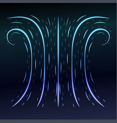 Abstract blue background with some swirls vector