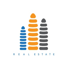Abstract design template of real estate company vector