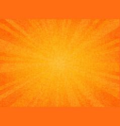 abstract sun burst orange color circle pattern vector image