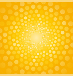 abstract yellow background made of small circles vector image