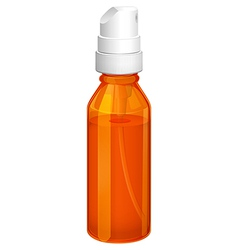 An orange spray bottle vector