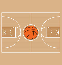 basketball court symbol vector image