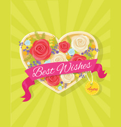 best wishes bright poster vector image
