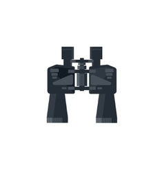 Binoculars in a flat styleTravel and hiking vector image