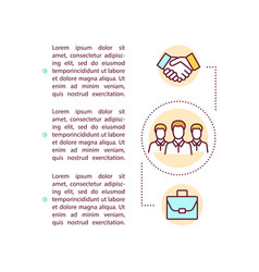 Business corporation concept icon with text vector
