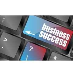 business success button on computer keyboard key vector image