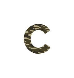camouflage logo letter c vector image