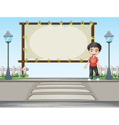 Cartoon Roadside Signboard vector image