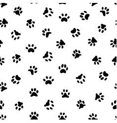 Cats paw print cat or dog paws footsteps prints vector