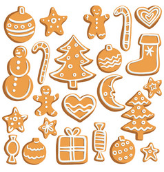 chrictmas cookies vector image