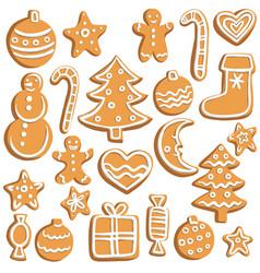 Chrictmas cookies vector