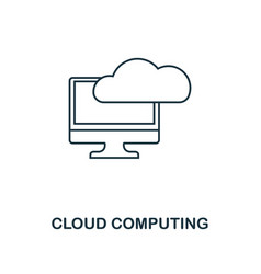 cloud computing icon thin line style industry 40 vector image