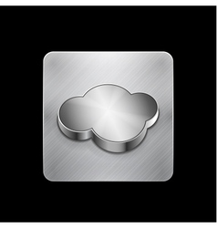 cloud phone button vector image