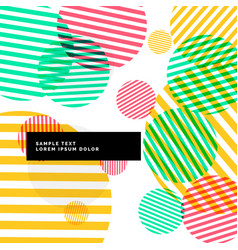 colorful abstract circles background vector image