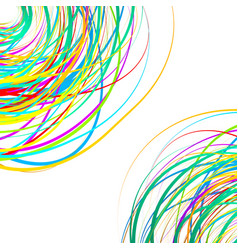 Colorful scribble like elements abstract vector