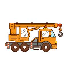 crane truck vector image