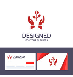Creative business card and logo template growth vector
