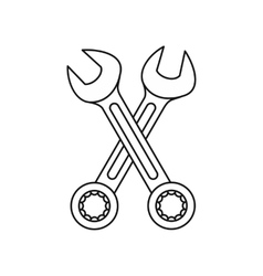 Crossed wrenches icon outline style vector