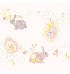 cute seamless Easter rabbit an vector image