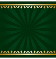 Dark green background with golden decorations vector