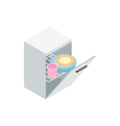 Dishwasher icon isometric 3d style vector