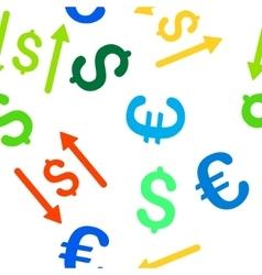 Dollar Swap Seamless Flat Pattern vector
