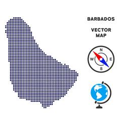 Dot barbados map vector