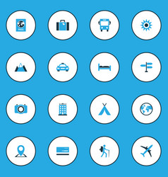 Exploration colorful icons set collection of vector