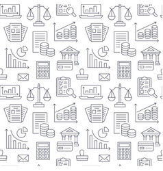 Financial accounting seamless pattern with flat vector