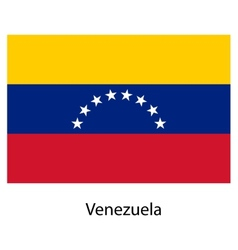 Flag of the country venezuela vector image