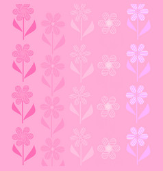 Flowers are pink vector